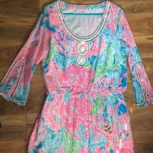 Lilly Pulitzer Delisa Dress- Let's Cha Cha